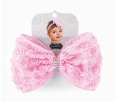 造型髮帶: 粉紅玫瑰蝴蝶結:1512057