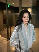 運動外套 棒球服女2021年春秋季韓版新款寬鬆短款運動休閒外套夾克女潮ins 童趣屋  新品