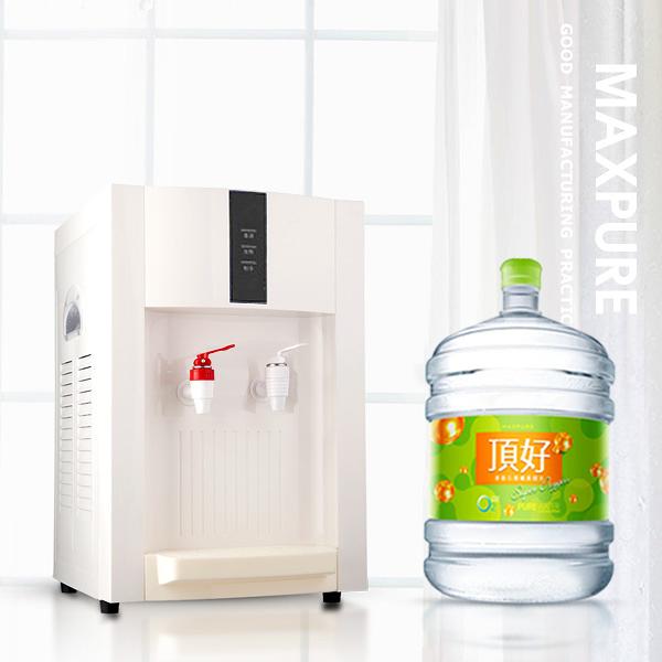 桌上型溫熱飲水機+麥飯石涵氧水12.25公升30桶