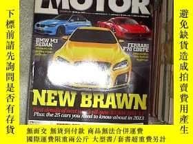 二手書博民逛書店MOTOR罕見THE CARS OF DECEMBER 2012Y203004