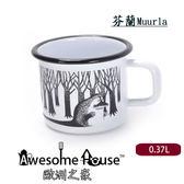 芬蘭Muurla moomin 嚕嚕米 琺瑯杯 白色哥古 370cc #1709-037-03