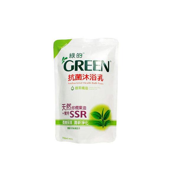 綠的 抗菌沐浴乳補充包 綠茶 700ml