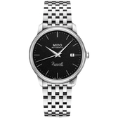 MIDO 美度 Baroncelli III Heritage復刻經典機械錶-黑x銀/39mm M0274071105000