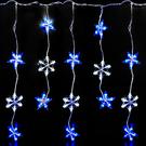 聖誕燈LED燈100燈星星雪花造型窗簾燈...