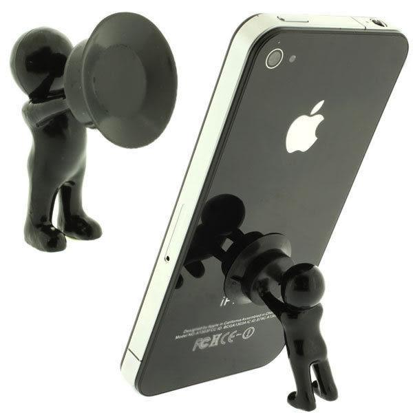 【SZ】人體懶人手機支架 桌面手機支架 手機創意多功能通用版配件蘋果 三星 SONY HTC 吸盤支架 小米