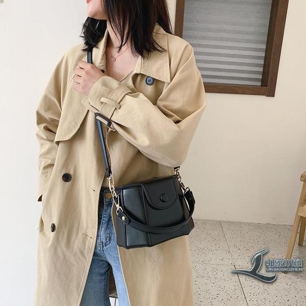 斜背包時尚復古側背包百搭手提小包包【邻家小鎮】