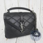 BRAND楓月 SAINT LAURENT YSL 428056 黑菱格 中款 學院包 信封包 斜背包 側背包