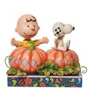 Enesco Snoopy 史努比與查理布朗萬聖南瓜塑像_EN28959