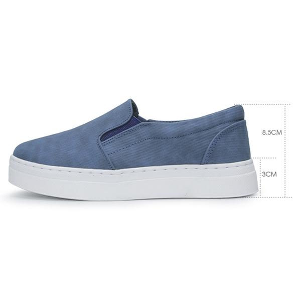 【富發牌】深藍海洋懶人鞋-黑/白/藍 1BK67
