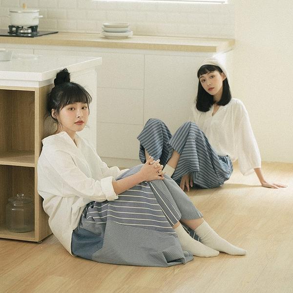 Queen Shop【01024038】中山領棉麻排釦白襯衫*現貨+預購*