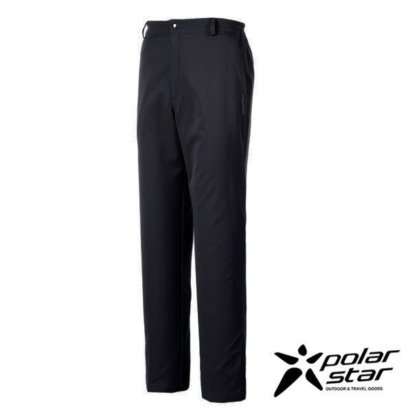 PolarStar 男 排汗快乾紳士長褲『黑』P17307 西裝褲│休閒褲│吸濕排汗│直筒褲│大尺碼4L