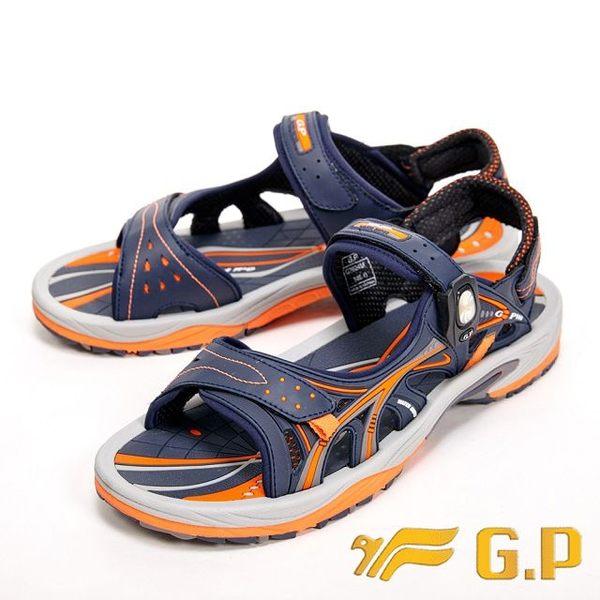 【G.P】可拆式時尚休閒涼拖鞋 男款-橘(另有藍)