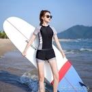 泳衣女遮肚顯瘦保守平角裙式專業運動學生分體外貿游泳裝