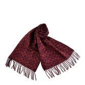 美國正品 COACH LOGO/格紋雙面用羊毛流蘇圍巾-紅色【現貨】