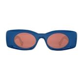 LOEWE 羅威 2019 Paula's Ibiza系列藍白塑膠造型太陽眼鏡 【二手名牌BRAND OFF】