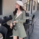 洋裝小香風 復古連衣裙女秋冬新款韓版顯瘦氣質溫柔風長袖針織裙子 莎瓦迪卡