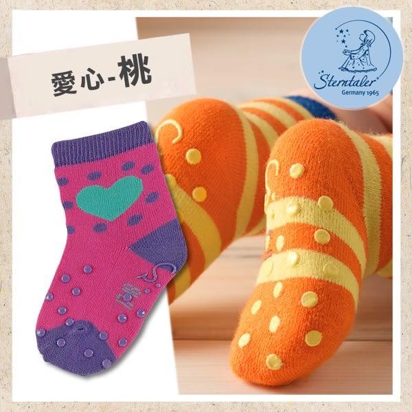 防滑學爬襪-愛心桃(8-11cm) STERNTALER C-8011606-686