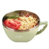 304不銹鋼泡面碗帶蓋大號碗學生便當盒方便面碗宿舍碗筷套裝大碗 快速出貨