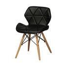 【森可家居】思麗黑色餐椅 7ZX883-11 北歐風