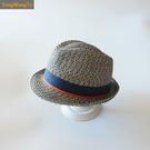 紳士帽 男童春夏天遮陽帽草帽寶寶防曬太陽帽嬰幼兒童涼帽男孩禮帽爵士帽 快速出貨