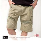 【大盤大】A715 中米 NG無法退換 XL號 水洗褲 男 夏棉褲 純棉五分褲 多口袋工作褲 休閒褲