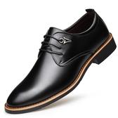 皮鞋—男士皮鞋 男鞋新款夏季英倫商務正裝尖頭休閒黑色鞋子男潮 korea時尚記