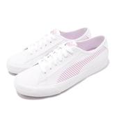【六折特賣】Puma 休閒鞋 Bari 白 粉紅 帆布鞋面 低筒 運動鞋 女鞋【PUMP306】 36911605