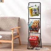 零食收納架落地多層蔬菜置物架儲物架家用水果收納筐客廳廚房神器ATF 聖誕節鉅惠