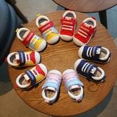 新款寶寶學步鞋0-1-3歲 嬰兒鞋帆布鞋軟底透氣童鞋Mandyc