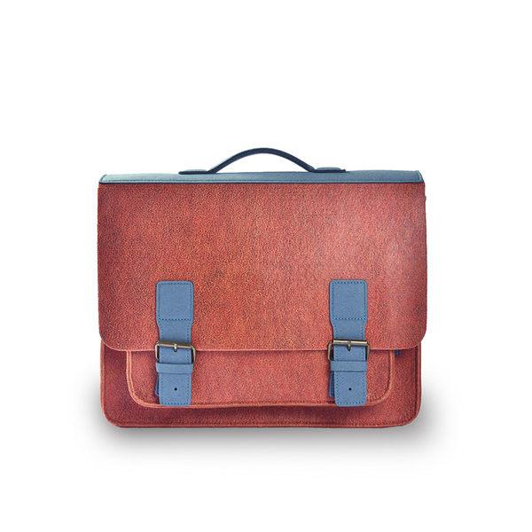 (七折)M.R.K.T. Kendrick Briefcase 素皮革工業風設計款牛津公事包-198181C COPPER(橘色)