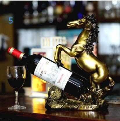 馬到成功家居創意擺件酒櫃紅酒架子客廳家飾風水擺件