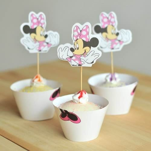 【發現。好貨】烘焙包裝紙杯蛋糕 蛋糕裝飾 插牌圍邊+插牌裝飾 派對用品【立體米妮】