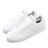 adidas 休閒鞋 VL Court 2.0 白 銀 女鞋 運動鞋 【PUMP306】 B42314
