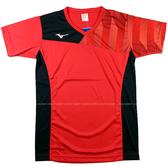 (A9)MIZUNO 美津濃 男女短袖排球T恤 紅 V2TA8G1762 吸濕排汗休閒運動機能印花[陽光樂活=]