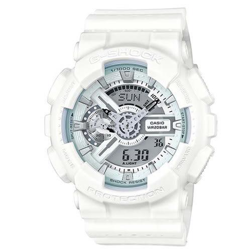 G-SHOCK時尚運動風潮強悍百變休閒運動錶-白