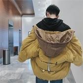 (免運) 港風加厚棉衣男韓版寬鬆潮流帥氣麵包服冬季加絨連帽棉服外套