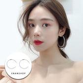 惡南宅急店【0375D】黃藍多彩樹脂耳環 韓國氣質 圈圈耳環 誇張耳環 單支售價 (需一對下標X2)