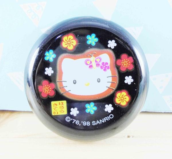 【震撼精品百貨】Hello Kitty 凱蒂貓~KITT口紅盒-黑花圖案