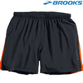 【BROOKS】男款夜光慢跑短褲 5吋 - 亮橘