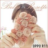 OPPO R11s Plus R11 R11s R9s Plus 雙色立體玫瑰 手機皮套 插卡 掛繩 吊飾 內軟殼 淑女系