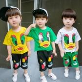 2兒童男童套裝夏3-5周歲2018新款韓版秋冬7寶寶短袖8兩件套小男【免運】