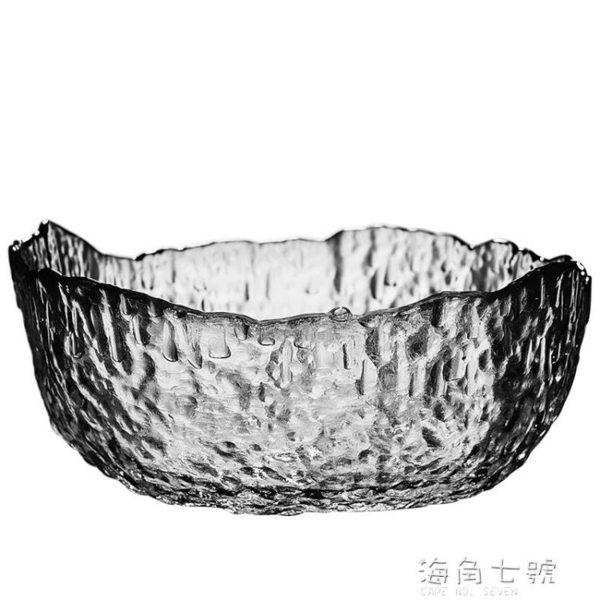 玻璃茶洗大號家用杯洗水盂水洗碗日式錘紋功夫茶具茶道零配件果盤 聖誕節全館免運