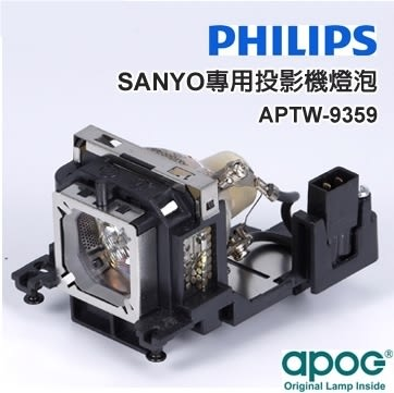 【APOG投影機燈組】適用於《SANYO PLC-XU350A》★原裝Philips裸燈★