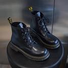 英倫風馬丁靴女2020年新款2021春季春秋百搭爆款潮ins韓版短靴子一米陽光