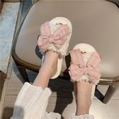 韓版ins風室內居家用甜美時尚毛毛拖女秋冬防滑少女棉拖鞋