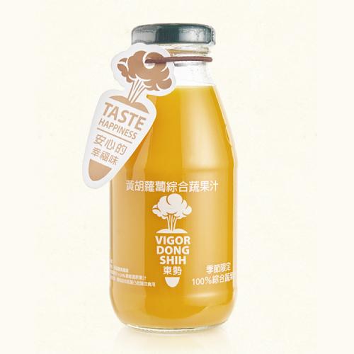 【鮮食優多】活力東勢 100%黃胡蘿蔔綜合蔬果汁(24瓶/箱)