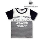 RQ POLO 小童春夏款條紋立體圖案棉質T恤[85265]