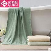 竹浆纤维绣花浴巾 舒适裹身浴巾柔软吸水成人大毛巾 浴巾