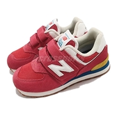 New Balance 574 寬楦 紅 白 魔鬼氈 童鞋 NB 紐巴倫 小朋友 【ACS】 PV574HA2W
