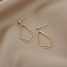 925銀針镂空幾何菱形耳釘多邊形金屬長款耳環耳飾GDB507-B.81917 胖丫